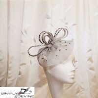 Silver beaded fascinator 13975